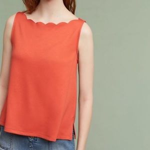 Anthro Eri + Ali Meg Scalloped Tank Top